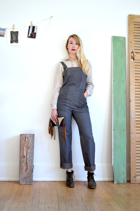 Overalls Womens Overalls Mechanic Jumpsuit by RevivallClothing