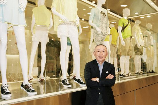 "Tadashi Yanai- Tadashi Yanai, a clothing retailer from Tokyo, is excited about the new fabrics his team has invented.  One is a ""warmth-generating Uniqlo cloth"" called Heattech and the other is a ""cooling fabric"" called Airism. - Mary N."