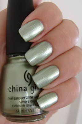 China Glaze Cherish: Gorgeous sea foam green shimmer .... great summer color