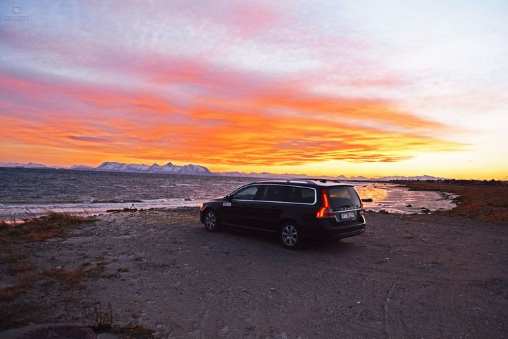 Avis Volvo at Sunset by the Beach,  Skarstein, Norway - Need To See It All