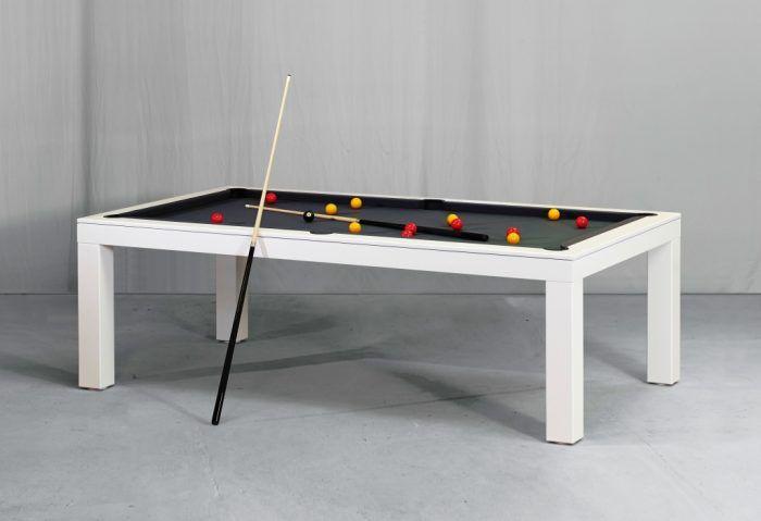 Picesis White Billiards N More Billiards Dining Table Modern Pool Table Pool Table Dining Table