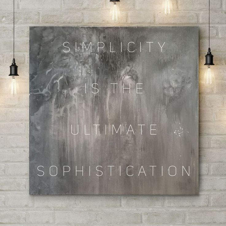 """""""SIMPLICITY"""" by Liam Williams. Mixed Media painting on Canvas, Subject: Abstract and non-figurative, Typographic style, One of a kind artwork, Signed on the front, Size: 100 x 100 x 5 cm (unframed), 39.37 x 39.37 x 1.97 in (unframed), Materials: Acrylic and spray paint on high quality stretched canvas"""