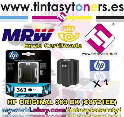 CARTUCHO TINTA HP ORIGINAL 363 NEGRO C8721EE