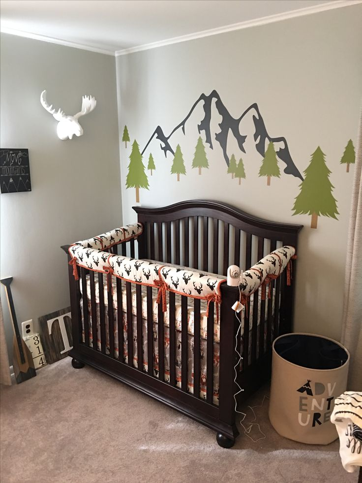 An adorable woodsy nursery featuring our Buck