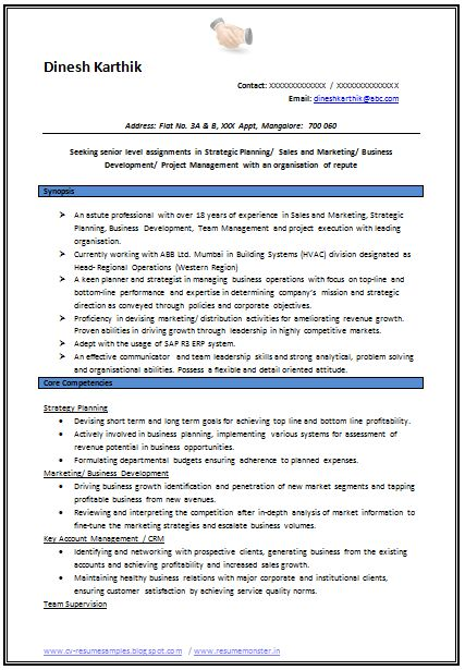 Professional Curriculum Vitae / Resume Template for All Job Seekers  Sample Template Example of Beautiful Excellent Professional Curriculum Vitae / Resume / CV Format with Career Objective, Job Profile & Work Experience for Fresher & Experienced in Word / Doc / Pdf Free Download (Click Read More for Viewing and Downloading the Sample)  ~~~~ Download as many CV's for MBA, CA, CS, Engineer, Fresher, Experienced etc / Do Like us on Facebook for all Future Updates ~~~~