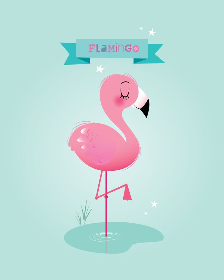Flamingo print Girl nursery wall art by IreneGoughPrints on Etsy
