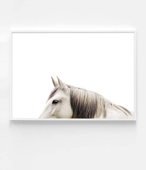 Minimalist Horse Photography | Horse Print | Scandinavian Decor by Little Ink Empire on Etsy