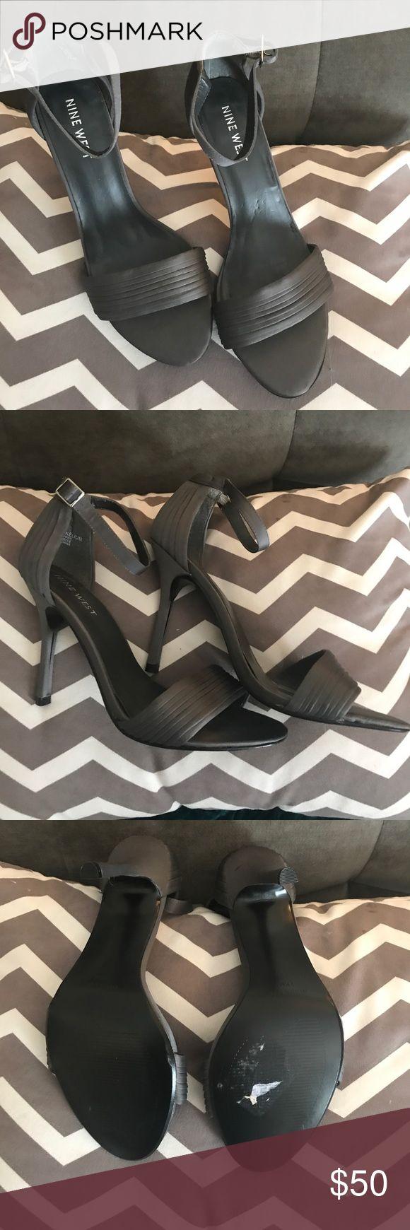 Nine West Heels Size 7 1/2 gray Nine West Heels. Practically brand new. Worn once to a wedding. Nine West Shoes Heels