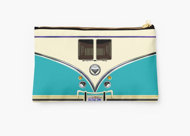 kawaii Blue teal love bug mini bus Studio Pouches @pointsalestore #StudioPouches #bag #funny #cute #fun #lol #veedub #golf #kombi #minivan #minibus #beetle #bus #camper #retro #splitwindow #van #vintage #bumper #car #lovecar #offroad #campercar #microbus #pickup #transporter
