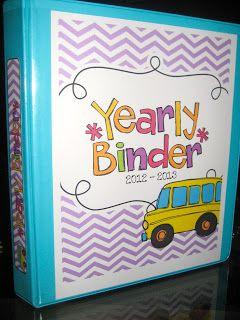 Kindergarten Smiles: My Teacher Binder (I bought on TPT)