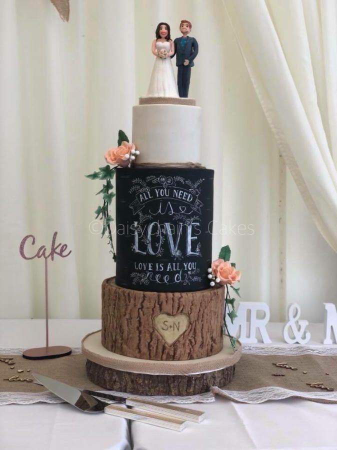 Chalkboard wedding cake by daisychains cakes cakes cake chalkboard wedding cake by daisychains cakes cakes cake decorating daily inspiration ideas pinterest junglespirit Choice Image