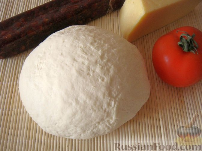 Рецепт: Бездрожжевое тесто для пиццы на RussianFood.com