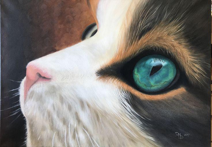 Sally Cat A2 Oil Paint