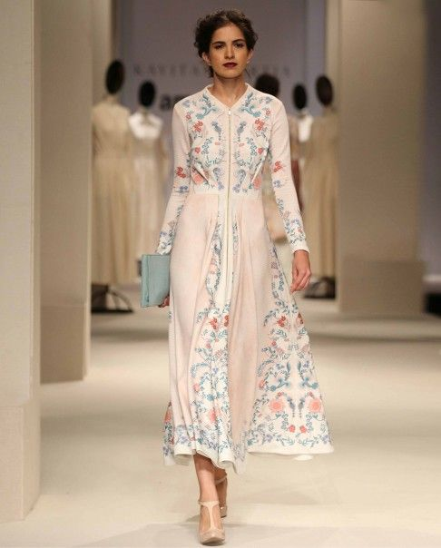 Thulian Pink Printed Maxi Dress - Kavita Bhartia - Amazon India Fashion Week - Off The Runway