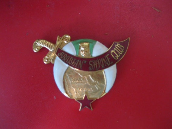 1960's Masonic Shriner  Arabian Shriner Club  Fez by YeehawCherry, $22.00