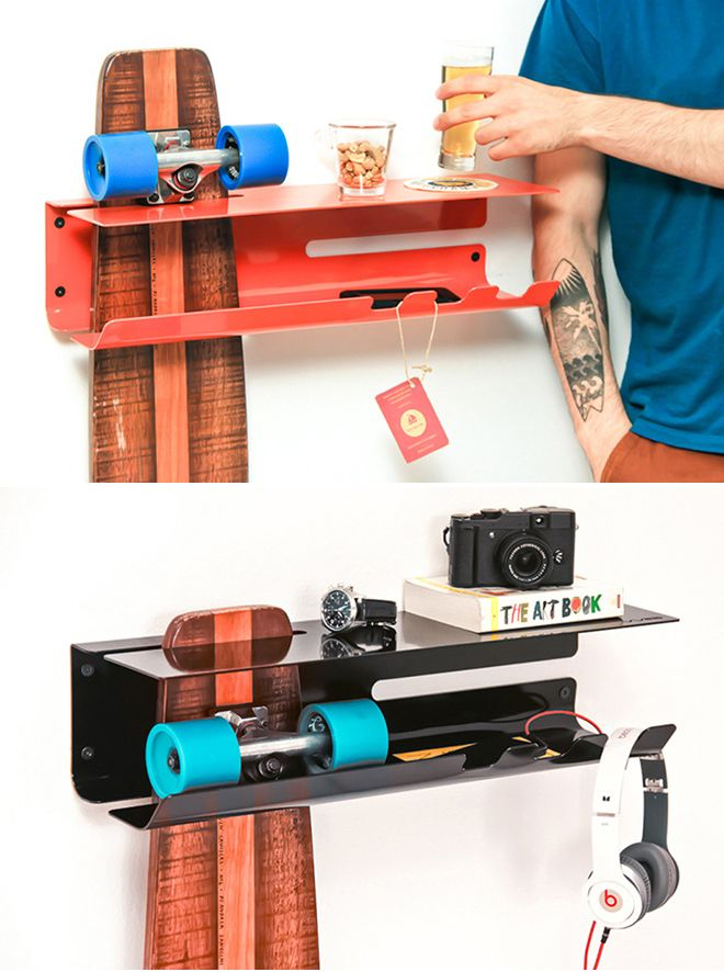 Shelves for Storing Your Skateboard  #home #decoration #interior #design #diy #decoración #hogar