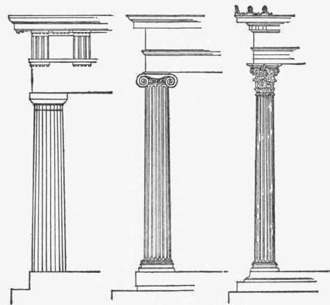 The doric ionic and corinthian columns arch history for Doric columns