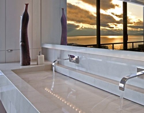 modern sink for the master bath; love the clean lines
