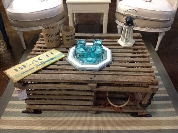 Lobster Trap Coffee Table by VintageChicBtq on Etsy, $750.00