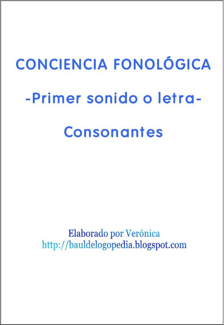 1. Conciencia Fonológica. Primer sonido o letra. Consonantes.