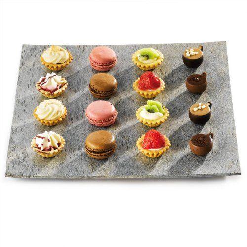 slate square pillar plate 30 x 30cm slate platter serving platter presentation platter - Slate Cafe Ideas