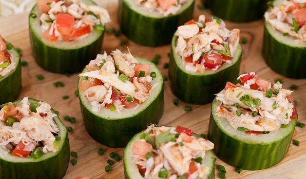Crab Salad Cucumber Cups