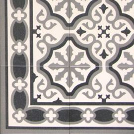 Esquina Florentine White  20x20cm