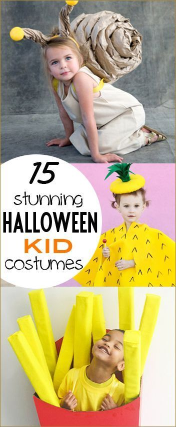 15 Kid Costumes.  Adorable DIY costumes for all ages.  Halloween costumes for boys.  Halloween costumes for girls.  Homemade costumes the kids will love!