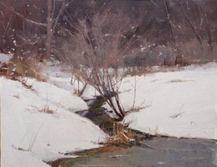 843 best Winter paintings images on Pinterest | Landscape ...