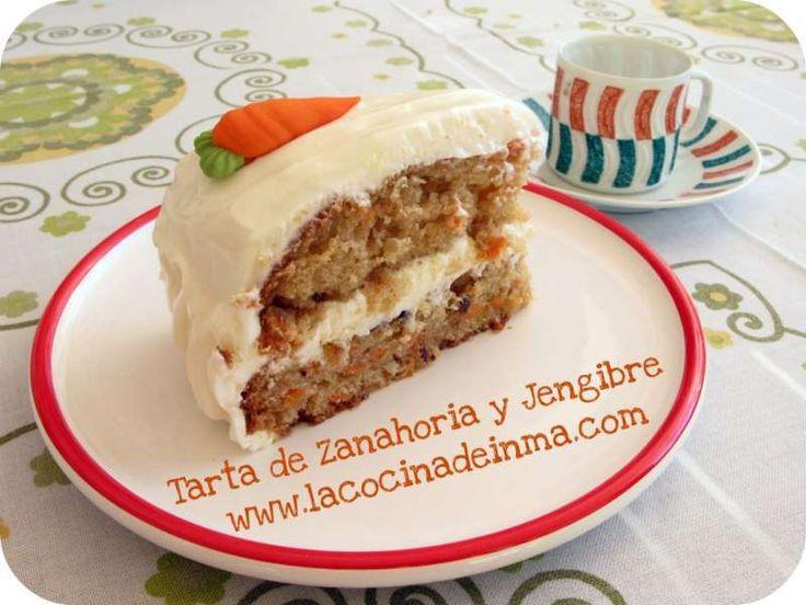 Tarta de Zanahoria y Jengibre