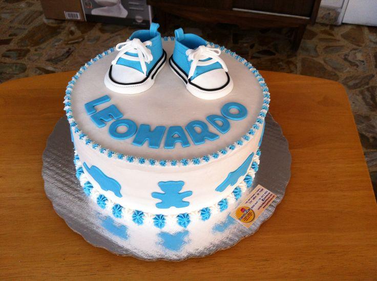 converse baby shower cake