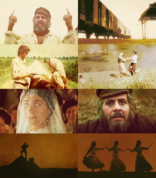 Fiddler On the Roof. A brilliant, brilliant story with incredible characters. I've watched it hundreds of times and it still thrills me. (No, I did not create this poster - I simply enjoy it immensely!) - Natalie