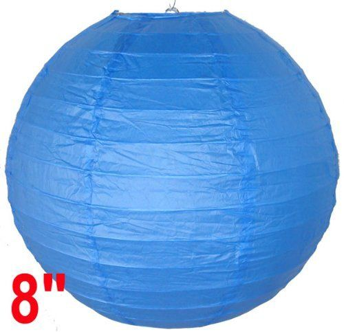 "Blue Chinese/Japanese Paper Lantern/Lamp 8"" Diameter - Just Artifacts Brand by Just Artifacts. $0.98. Great for party and home decoration. Check Just Artifacts products for more available colors/sizes."