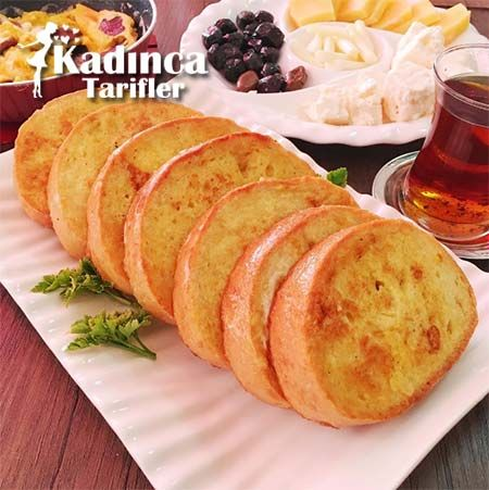 YUMURTALI EKMEK TARİFİ http://kadincatarifler.com/yumurtali-ekmek-tarifi