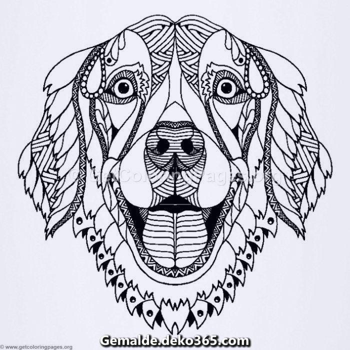 Ausmalbilder Von Free Zentangle Dog Kostenlos Herunterladen Dog