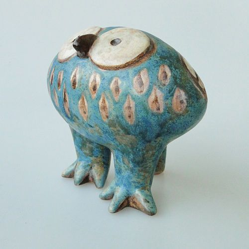 EULE Keramik Skulptur EVA FRITZ-LINDNER Karlsruher Majolika | eBay