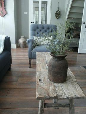 Landelijk wonen houten meubelen
