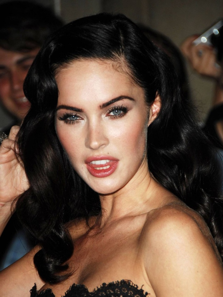 Megan Fox Old Hollywood Hair