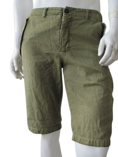 Bermuda cargo, military green with a lot of patch pockets put in the side seam just @ $63.00