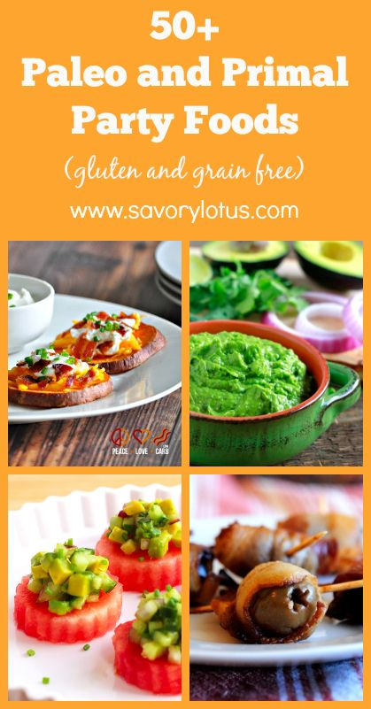 50+ Paleo and Primal Party Foods (gluten and grain free) - savorylous.com #partyfood #appetizers #paleo