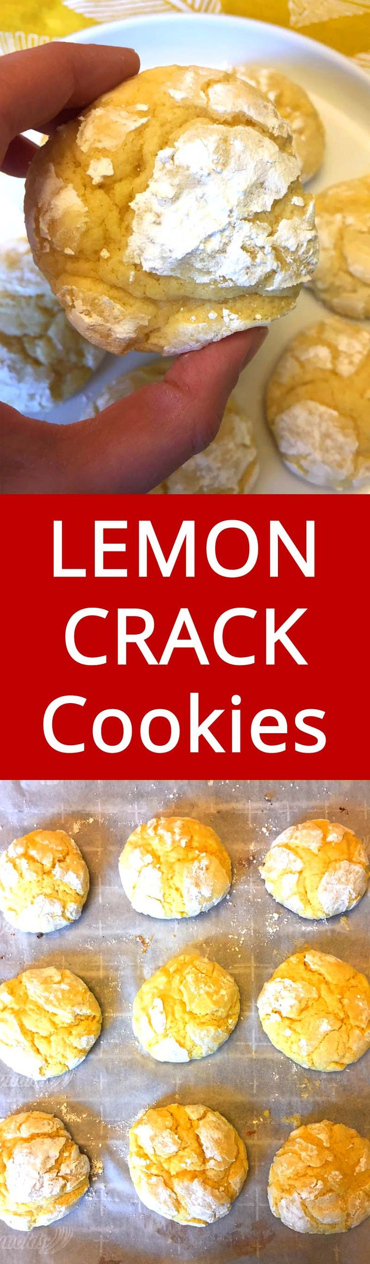 These cookies are sooo addictive - no wonder they are called lemon crack! This is my favorite lemon crinkles cookies recipe - BEST EVER!