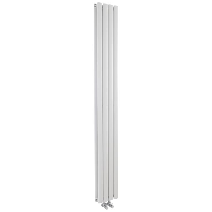 Hudson Reed Revive - White Space Saving Double Panel Radiator 1800mm x 236mm - Middle Connection Designer Radiators - Designer Radiators - Radiators