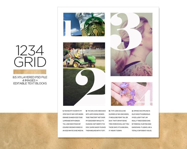 1234 Grid by @Design Editor via Etsy
