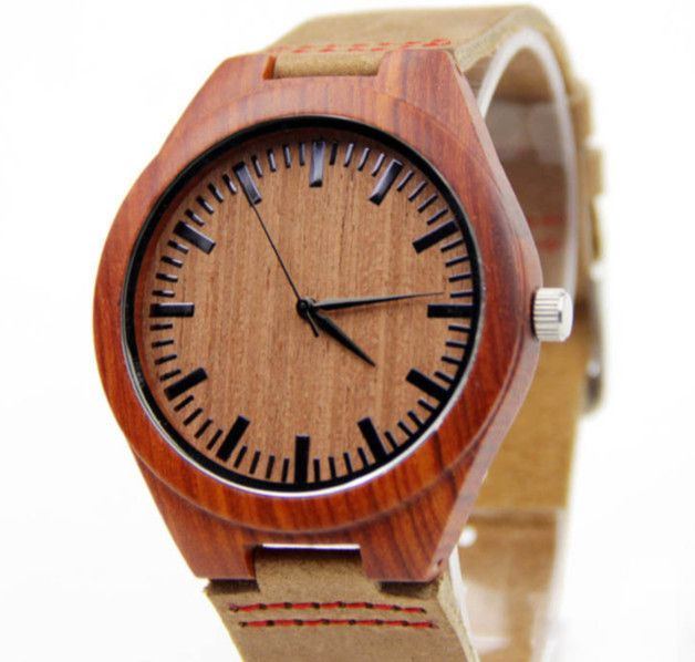 Armbanduhren - Armbanduhr Männer Holz braun - ein Designerstück von Vintage-Basar bei DaWanda