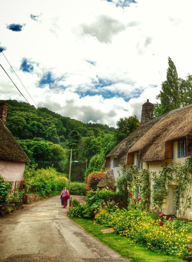 A walk in the country (Dunster, England) by Jenny Parry