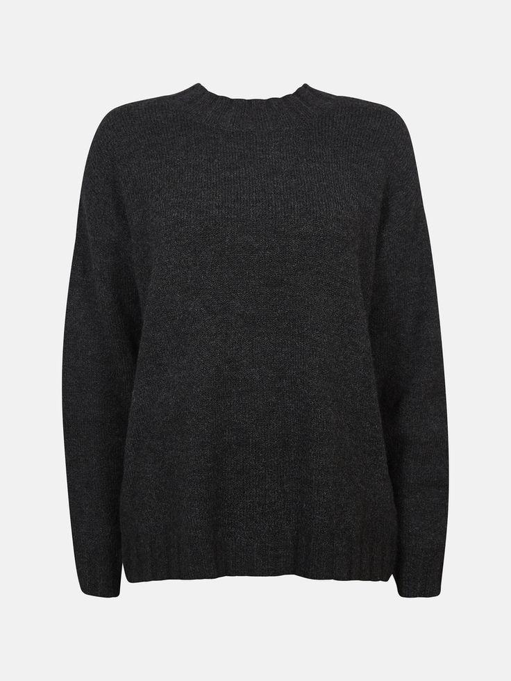 CUBUS - Julie strikket genser i sort melet 199,-