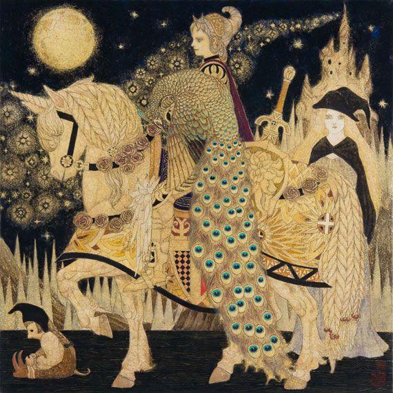 日本画家 笹本正明が描く耽美で妖艶な幻想的世界 展覧会情報 写真 デザイン adb アートのアイデア 日本画 インスピレーションあふれるアート