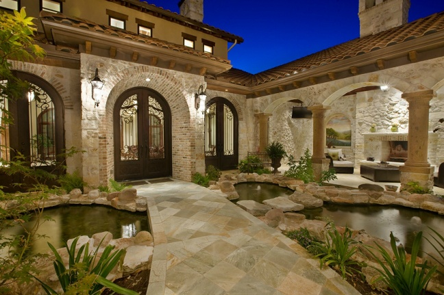 Entry courtyard courtyards outdoor living pinterest for Courtyard entry house plans