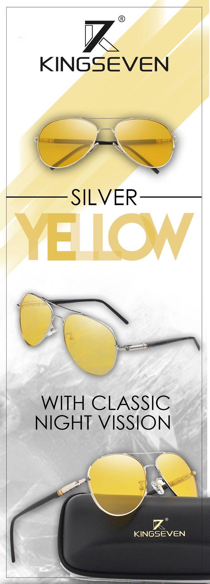 Men's polarized night driving sunglasses - Kingseven designer sunglasses - Men's top brand fashion style affordable accessories #sunglasses #menssunglasses #affordable #sunglassesformen #mensaccessoriessunglasses