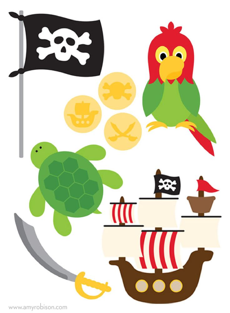 DIY Pirate party favors and decorations. www.arobison.com/blog #silhouettecameo #pirate #pirateparty #party